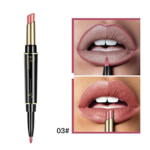 Huihuger Doppelseitige dauerhafte Lipliner Wasserdichte Lip Liner Stick Bleistift