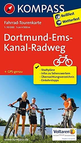 Fahrrad-Tourenkarte Dortmund-Ems-Kanal-Radweg: Fahrrad-Tourenkarte. GPS-genau. 1:50000.: Fietsroutekaart 1:50 000 (KOMPASS-Fahrrad-Tourenkarten, Band 7053) Ems Gps