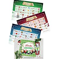 CHRISTMAS BINGO Christmas Games - 20 A6 Postcard size Xmas games bingo cards with images - christmas stocking fillers - christmas eve box fillers for kids - UK Content and design - xmas fillers
