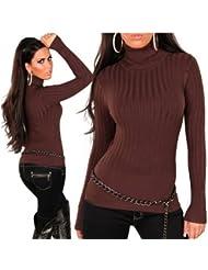 Feinstrick Strickpulli Rollkragenpullover Pullover Fein Pullover SM und L XL