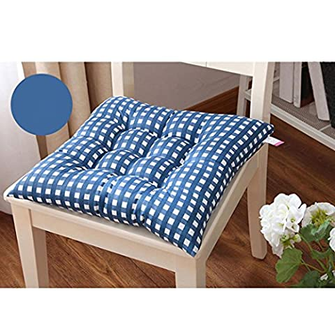 Kingko® Fashion New Candy Color Seat Pad Dining Room Garden Kitchen Office Chair Cushions (Blue)