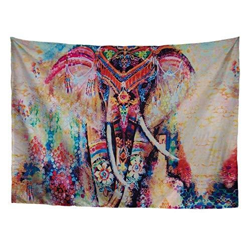 CHAQLIN Tapiz para Colgar en la Pared, Tapiz Indio, decoración para el hogar, Sala de Estar, Dormitorio, Cuatro tamaños, Elefante, S Size:129cm*152cm(50.79'*59.84')
