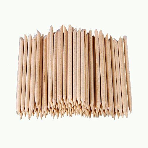 Asien 100 Stk Nail-Art polnische Orange Holz Stick Cuticle Pusher-Entferner Maniküre