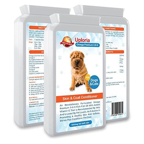 Suplementos para la piel del perro con prurito| Cápsulas de aceite de...