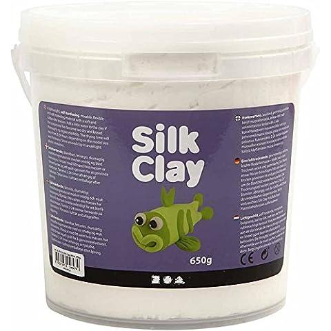 Creativ Company - Creta da modellare Silk Clay, 40 g bianco