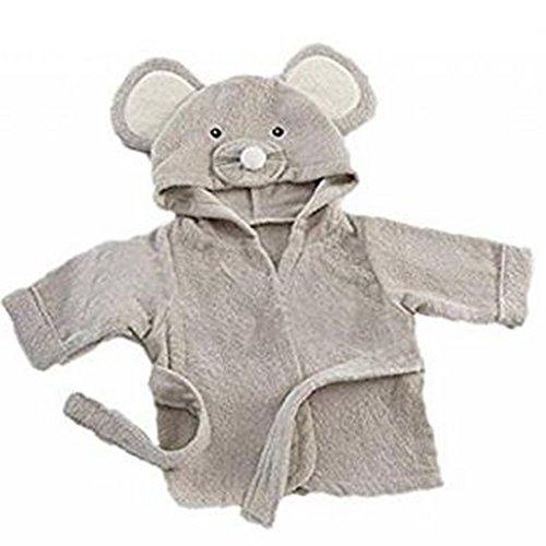 Mainaisi Bébé Serviette De Bain Animé Capuche Plage Peignoir 16 Couleurs (Grey Mouse)