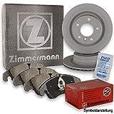 ZIMMERMANN Bremsscheiben Ø328mm + Zimmermann Bremsbeläge Bremsbelagsatz Hinten Hinterachse