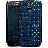 Samsung Galaxy S4 mini Hülle Schutz Hard Case Cover Anker Blau Maritim