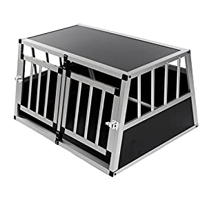 Cage De Transport Pour Chien Caisse Boite Mobile Box Aluminium 2 Portes Premium