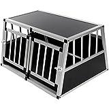 zoomundo Alu Transportbox Hundebox Reisebox Hundetransportbox 2-Türig Autotransportbox Kofferraumbox Gitterbox Käfig Box Premium