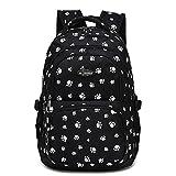 Minetom Mode Kinder Teenager Mädchen Schulrucksack Freizeitrucksack Daypacks mit der Großen Kapazität Schwarz