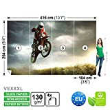 FORWALL Vlies Fototapete Tapete Vliestapete Dekoshop Motocross Jungen Teenager ADW1249VEXXXL (416cm x 254cm) Photo Wallpaper Mural