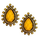 Women Fashion Jewellery Antique Yellow G...