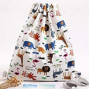 Doitsa – Bolsa con cordón para la casa, almacenamiento de juguetes, bolsa de almacenamiento, organizador de equipaje…