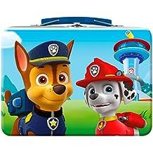 Paw Patrol lunch box - Maletín Patrulla Canina lata fiambrera con asa con espumas dulces y sorpresa