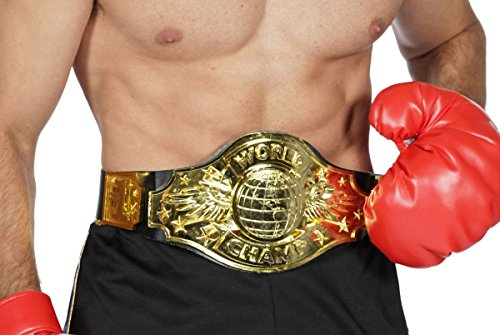Kostüme Boxen (Kostüm Zubehör Gürtel Boxer Champion Boxgürtel)