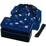 boite repas - Bento japonais bleu/noir 640ml + sac