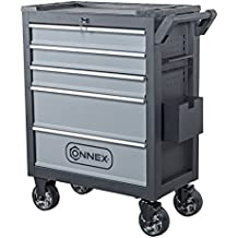 Connex Werkstattwagen, belastbar bis 300 kg, 665 x 900 x 365 mm, 1 Stück, schwarz, COXB364100