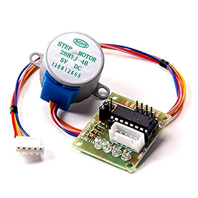 5v 4-phase 5-wire Stepper Motor (28byj-48-5v) with Uln2003 Stepper Motor Driver Board for Arduino, RBTMKR