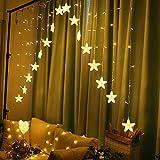 LaoZi Luci natalizie 220V Romantica Fata Stella LED Illuminazione per tende per tende per camera da letto domestica Decorazione ghirlanda per feste