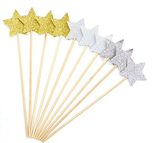 PuTwo Kuchen Dekorationen 20 Counts Star Kuchen Dekorieren Kuchen Toppers Sticks