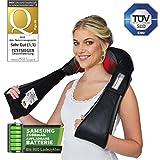 Donnerberg appareil de massage sans fil- Masseur pour cou, épaules, dos avec la pile rechargeable-Sens de rotation horaire et anti-horaire- NM090- Qualité allemande