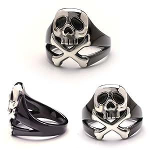 Captain Harlock Harlock skull silver ring ruthenium black No. 23 (japan import)