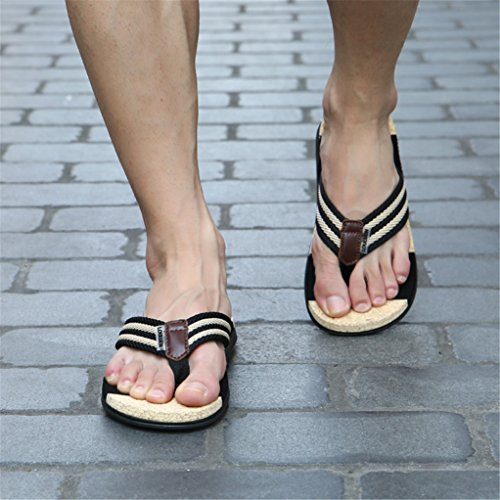 Phoenixes Flip Flops, Damen Pantoffeln Pantoletten Herren Hausschuhe Sommer Schuhe Anti-Rutsch Zehentrenner Damen Schwarz