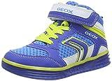 Geox J ARGONAT BOY A, Jungen Hohe Sneakers, Mehrfarbig (ROYAL/LIMEC4344), 28 EU