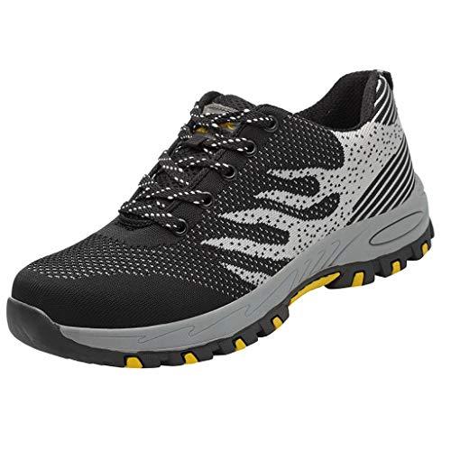 Turnschuhe Herren Wanderschuh Arbeitsversicherungsschuhe Trekking Schnürer Freizeitschuhe Atmungsaktiv Leichtgewicht Trainers Schuhe Sneaker