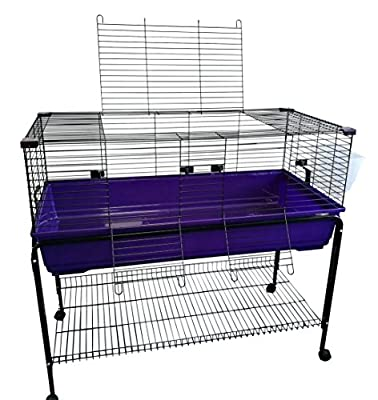 Heritage X/Large 120 Purple Rabbit Cage With Stand Package Deal - 120cm Indoor Bunny Cages & Stand, With Shelf & Wheels from Heritage Pet Products