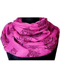 Immerschön leichter Rundschal in vielen Motiven und Farben Schal Accessory Damen