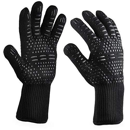 Joker Seine Und Kostüm Frau - QIMANZI Heiß BBQ Grillen Handschuhe Kochen Extrem Hitze Beständig Ofen Schweißhandschuhe(H)