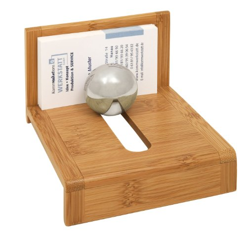 Wedo 0611407 Visitenkartenhalter Bambus braun