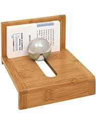 Wedo 0611407 Porte-cartes de visite en bambou clair