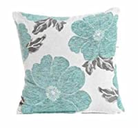 "Ideal Textiles Poppy, Chenille Cushion Covers, Floral Cushions, Pillow Covers, 18"" x 18"", 45cm x 45cm by Ideal Textiles"