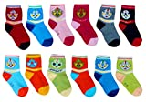 #1: ESELPRO BABY BOYS GIRLS COTTON ANKLE LENGTH SOCKS 2-4 YEARS(SET OF 12 PAIRS) ASSORTED DESIGNS