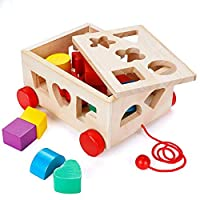 ‏‪Shape Sorter Toy, Building Toys Children Educational Building Blocks Toys for Babies Early Educational Game Toy Toddlers Birthday Gifts‬‏