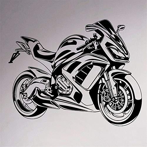 JXND Sport Motorrad Aufkleber abnehmbare Garage Dekoration Jugend Club Familie Indoor Schlafzimmer cool Mural 58x78 cm (Und Jugend-clubs)