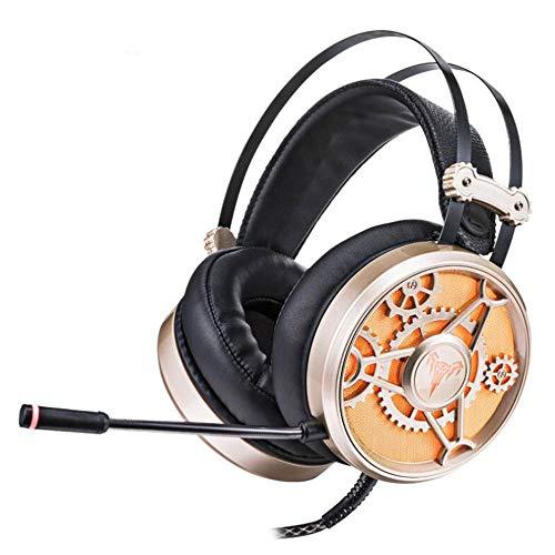 GCCLCF Headset Computer mit Weizen Ohrhörer 7.1 Sound-Card-Esports Spiel Subwoofer-Leichtmikrofon-Sound Esports Kopfhörer, geeignet für PS4, Neue Xbox EIN, Handy, iPhone, iPad, mp3, mp4.