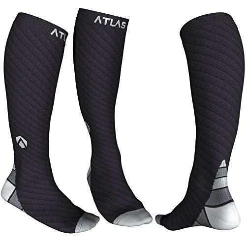 Atlas Sport Kompressionsstrümpfe für Herren & Damen - Ideal Kompressionssocken für Laufen, Radfahren - Abgestufte Kompression, ganztägiger Komfort