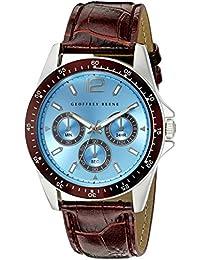 Geoffrey Beene Men's GB8067SLBNLB Analog Display Japanese Quartz Brown Watch