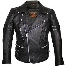 Blouson en cuir de moto vintage