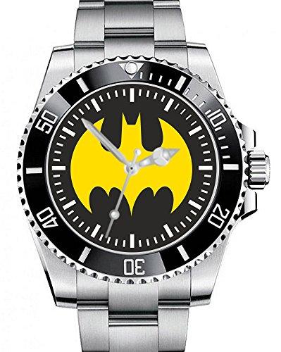 Uhr-1469-Fr-Batman-Shield-Marvel-Comic-Supermann-Hero-Fans