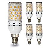 Lampaous E14 12W Mais Glühbirnen Warmweiss Leuchtmittel led Lampe 100 Watt Halogenlampen Ersatz 360 Grad Abstrahlwinkel 4er Pack
