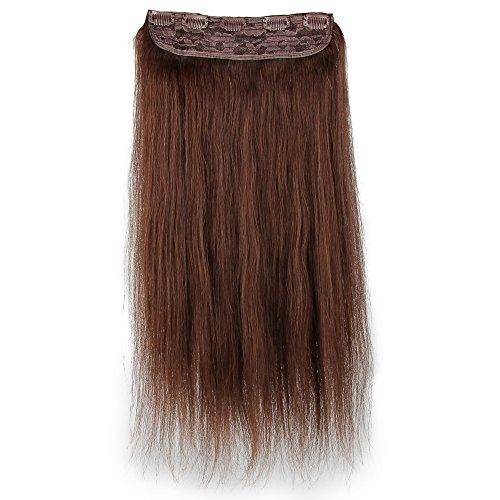 Beauty7 100g Extensions de Cheveux 8 Clips Humains à Clip 100% Remy Hair Haute Qualité #4 Couleur Chocolate Marron Longueur 60 cm