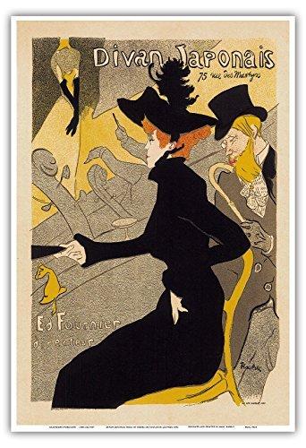 Diwan Poster 75Rue des Märtyrer, Paris; Cabaret Musik Dance Hall; Belle Epoque, Jugendstil, Art Deco; Vintage Französisch Poster Advertising;