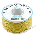 Sourcingmap a12041600ux0150 - Amarillo estaño recubierta de pvc de cobre plateado envolver alambre de envoltura de 305m de cable 30awg carrete