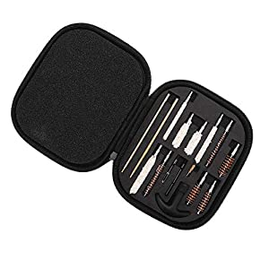 Anddod Universal Cleaning Kit .22 357 38 .40 .45 270 280 Cal Brass Brush Cotton Brush Mop Cleaner Set