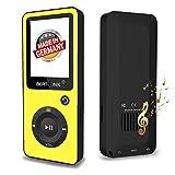 BERTRONIC Made in Germany BC02 Royal MP3-Player, 32 GB ★ Bis 100 Stunden Wiedergabe ★ Radio   Portabler Player mit Lautsprecher   Audio-Player für Sport mit Micro SD-Karte & Silikonhülle